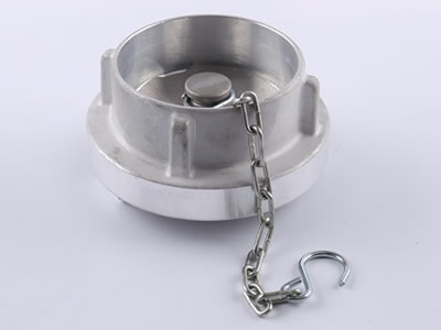 The picture shows aluminum storz blind cap with chain.
