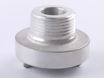 The picture shows an aluminum storz male thread in positive which can see thread and projecting lugs.