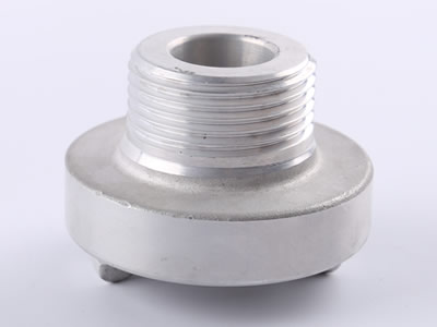 The picture shows a aluminum storz male thread.