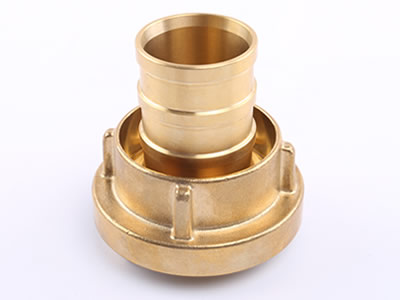 The picture shows a brass storz suction hose coupling in positive.